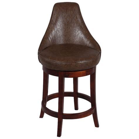 solid mahogany genuine brown leather swivel bar stool ebay daira 30 swivel bar stool wenge antique brown leather