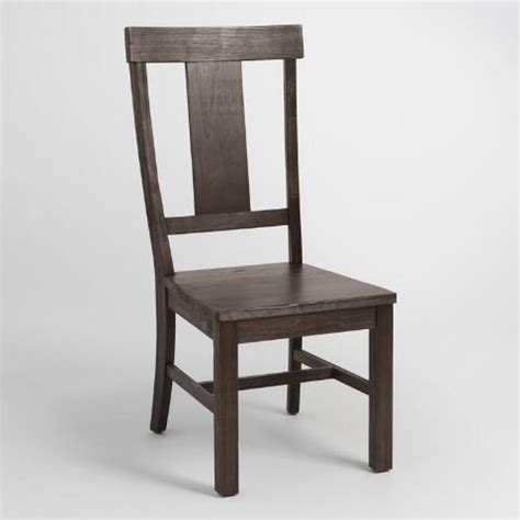Distressed Wood Dining Chairs Distressed Wood Kenzie Dining Chair Set Of 2 World Market