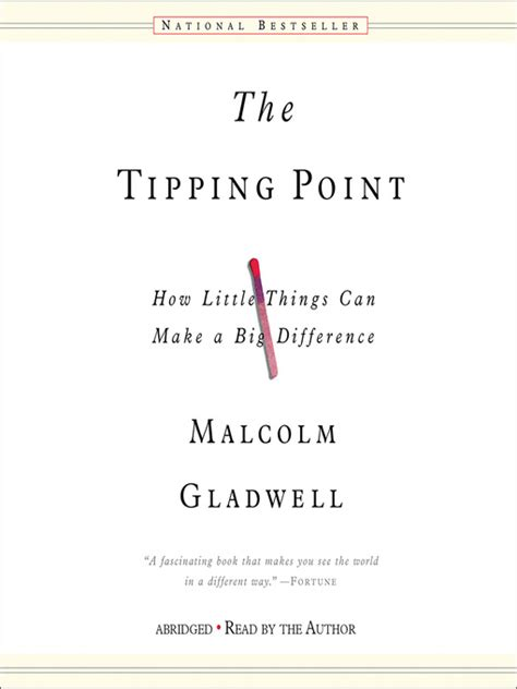 More On Monday The Tipping Point By Malcolm Gladwell by The Tipping Point Indianapolis Library Overdrive