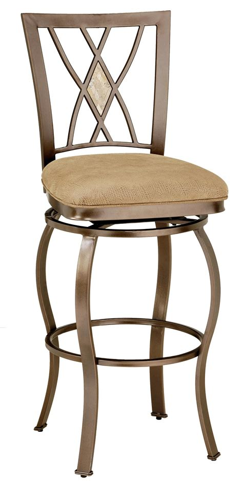 metal stools 30 quot bar height brookside diamond fossil back