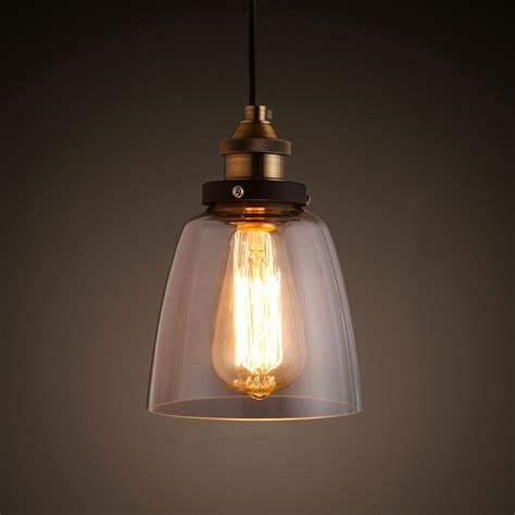 Edison Pendant Light Shantele Edison Collection 1 Light Copper Clear Glass Indoor Adjustable Pendant L Ld4025