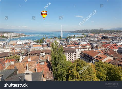 Overall Jeneva the city of geneva in switzerland a general and aerial view stock photo 146296718