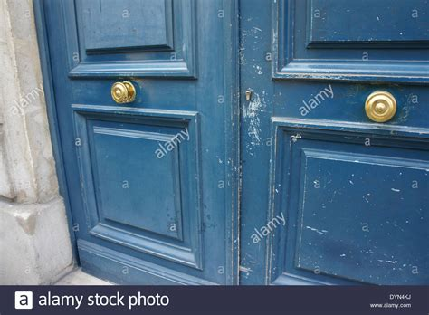 door knobs for french doors french doors with blue paint and center gold door knobs