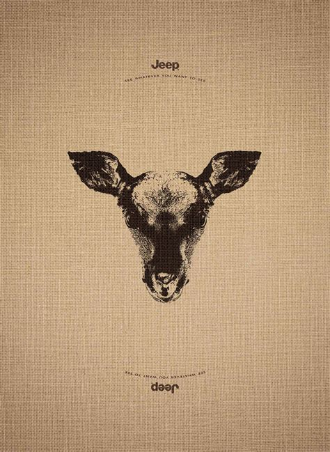 jeep print ads jeep s clever ad caign works just as well upside down