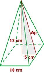 pirámide de base cuadrada ejercicios de 225 reas y vol 250 menes ii vitutor