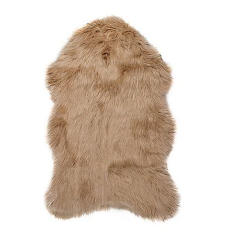 faux fur sheepskin rug luxe gordon faux fur sheepskin shag rug throw bed bath beyond