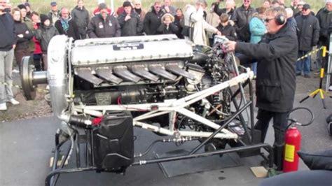 rolls royce merlin v12 engine start up loud hd