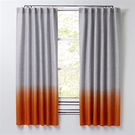 orange curtains kids curtains curtain hardware the land of nod
