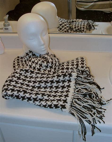 how to knit houndstooth houndstooth knit scarf free pattern to make for my