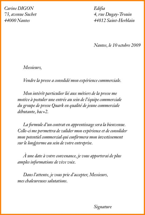Lettre De Motivation De Apprentissage 8 Exemple De Lettre De Motivation Pour Un Apprentissage Format Lettre