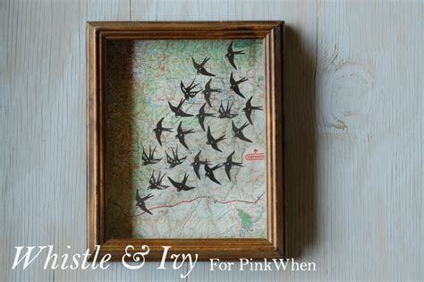 instagram map tutorial map and swallows shadowbox tutorial pinkwhen