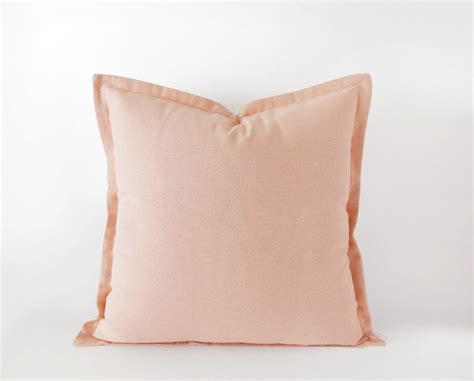 Light Pink Throw Pillows by Light Pink Decorative Pillow Cover With A Flange 16x16