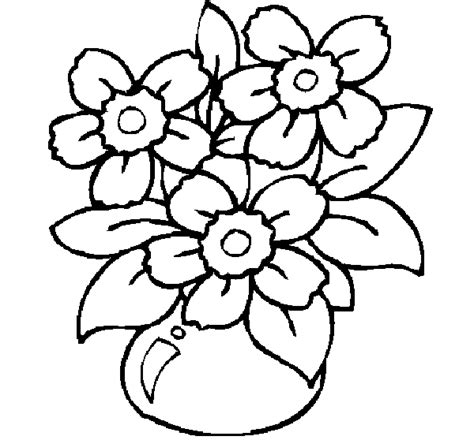 coloring pictures of large flowers flower colouring clipart best