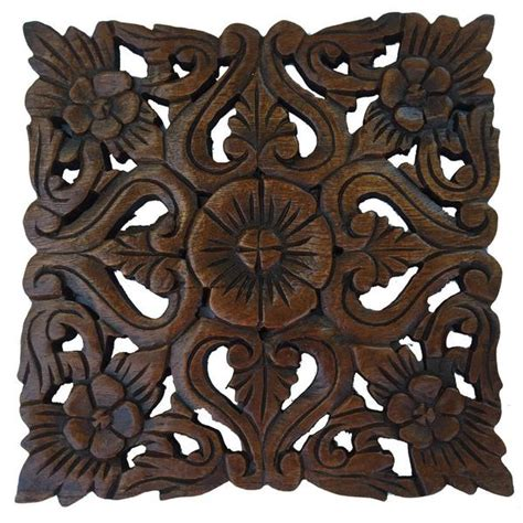 carved wood plaque square wall hangings wall decor asiana home decor