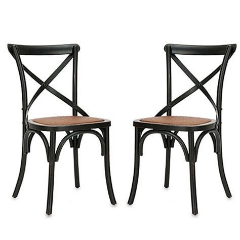 10615 Asma Black Set 2 In 1 buy safavieh franklin x back chairs in antique black set