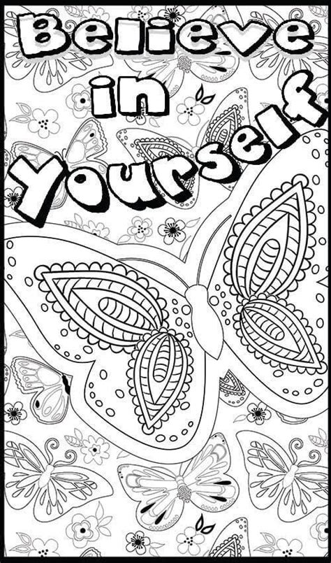 coloring book yourself 752 best words coloring pages for adults images on
