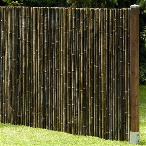 privacy screen black bamboo garden fencing wind shield in 8 sizes
