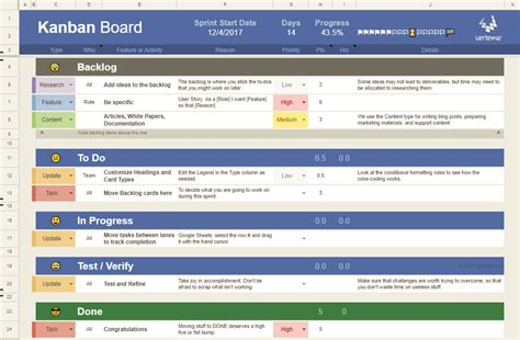 Kanban Board Template For Agile Pm Kanban Excel Template