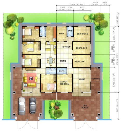 single detached house floor plan home architecture single story floor plans floor