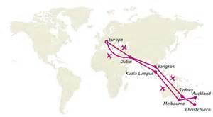 Brief Schweiz Nach Australien Around The World Mit Emirates 252 Ber Bangkok Sydney Und