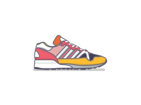animated running shoes adidas zx by miguel camacho dribbble
