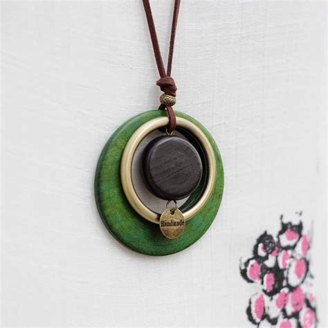 Handmade Wooden Necklaces - wooden pendant handmade necklace for shop