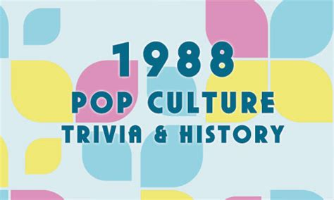 2012 fun facts history and trivia pop culture madness 1988 fun facts trivia and history pop culture madness