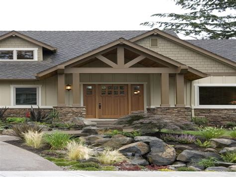 exterior paint schemes  ranch homes makeover craftsman