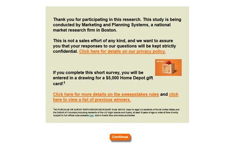 Home Depot Survey Sweepstakes - home depot survey at www homedepotopinion com happy customers review