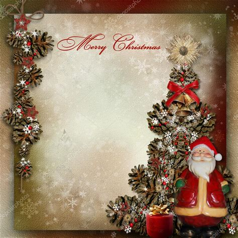 img of santa claus and x mas tree vintage background with tree and santa claus stock photo 169 glaz 33869863