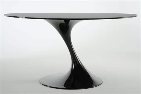 Table Ronde Noir by Atatlas Table Ronde En Verre Noir Monbureaudesign Fr