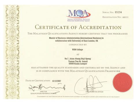 Certification Courses For Mba Operations by Master Of Business Administration Wim College