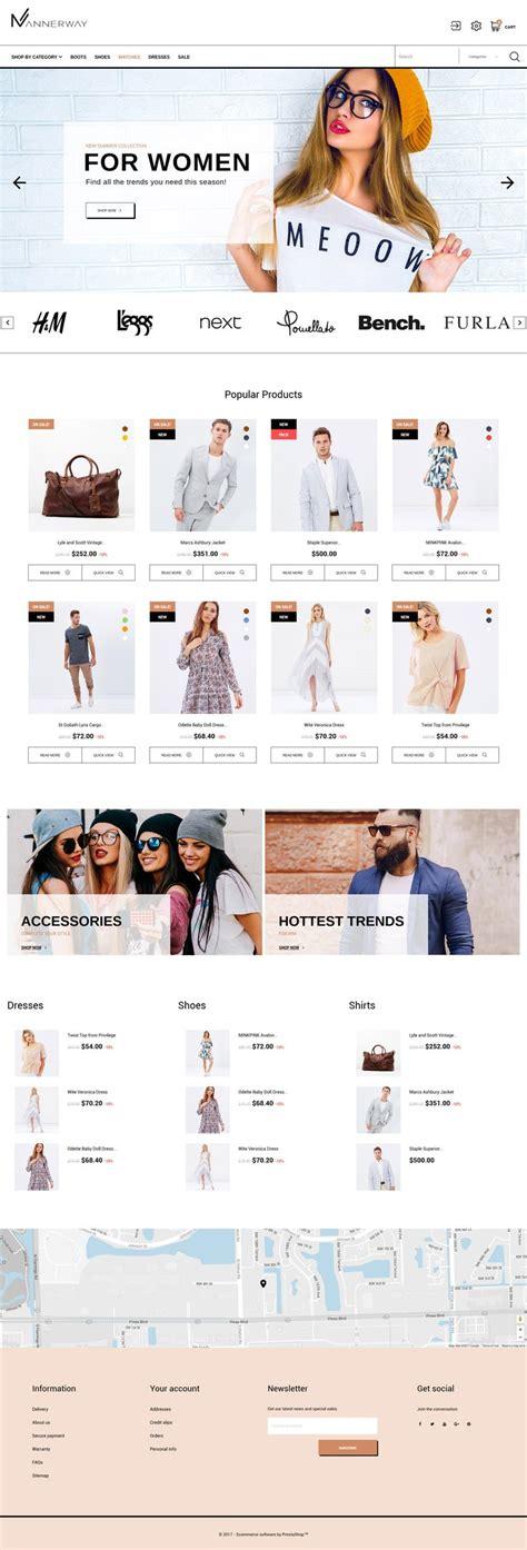 prestashop themes clothing 283 best prestashop themes images on pinterest design
