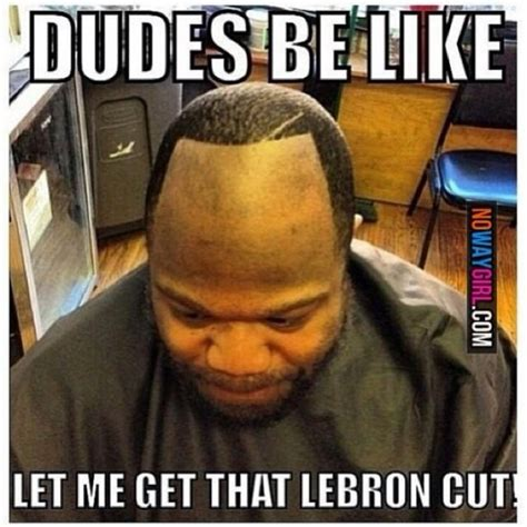 Lebron James Hairline Meme - lebron james hairline says look at me now sohh com