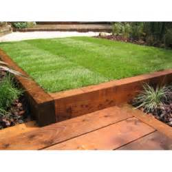 new brown railway sleepers 2400 x 200 x 100