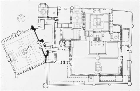 Floor Plan Of A Mosque by Shahi Qila Floor Plan With Badshahi Mosque Archnet