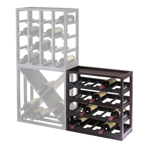 winsome kingston modular stackable 20 bottle cubby