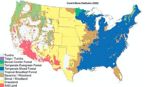 texas biomes map southwoods forest gardens biome redistribution climate change