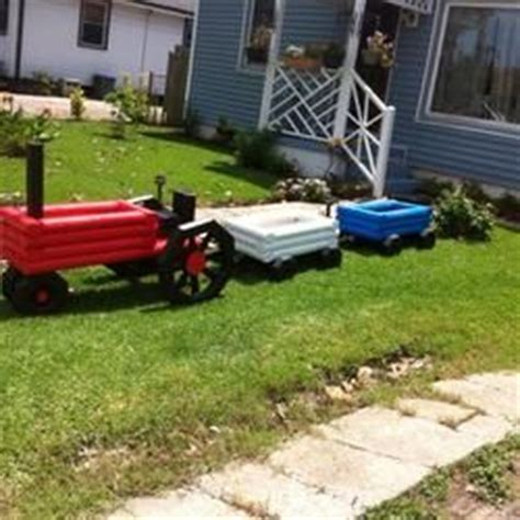 Landscape Timbers Tractor Tractor And Wagon S Flower Beds Projects