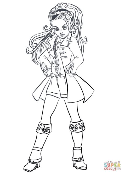 free coloring pages disney descendants disney descendants coloring pages printable coloring pages