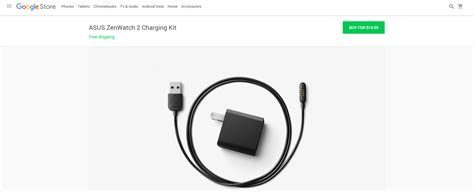 how to store chargers you can now buy an asus zenwatch 2 charger from the