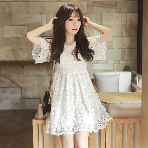 Dress Dress Korea Putih White 1 dress kimono picture more detailed picture about 2015 summer korean white lace dress slim slim