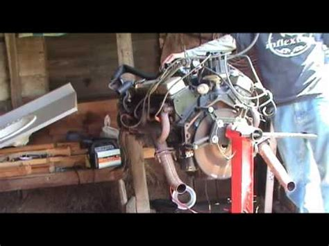 late  chevy small block running  engine stand  sale youtube
