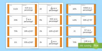 loop cards template fractions decimals and percentages loop cards year 6
