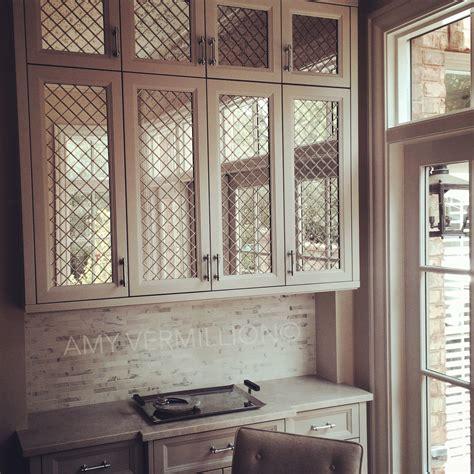 mirrored kitchen cabinet doors amy vermillion interiors antique mirror behind nickel