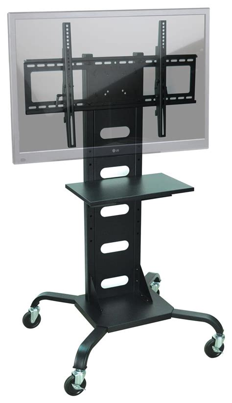 Stand Accessory Shelf by Tv Mount Stand For 37 Quot 60 Quot Monitors W Accessory Shelf