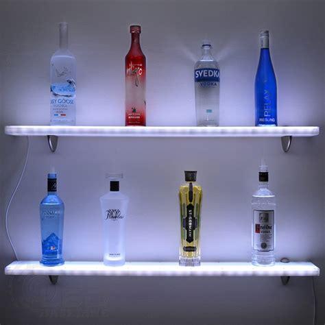 acrylic led floating shelf home bar shelves w led lighting