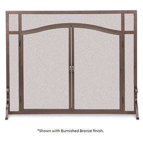 pilgrim 44 inch x 33 inch forged iron fireplace screen