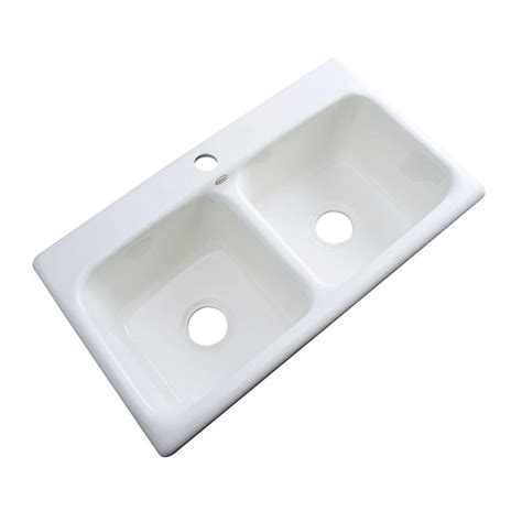 Acrylic Kitchen Sink Reviews Thermocast Brighton Drop In Acrylic 33x19x9 In 1 Basin Kitchen Sink In White 34100