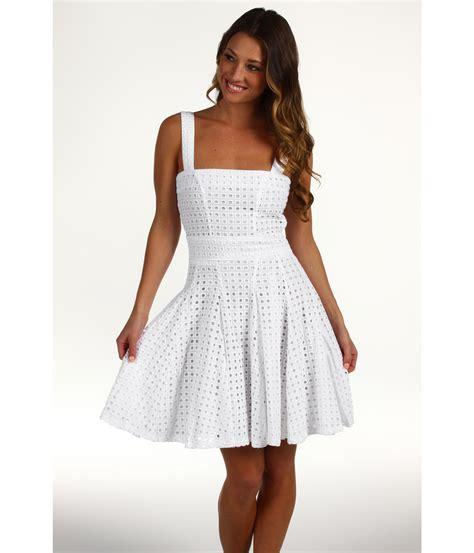 Cyntia Dress cynthia rowley eyelet dress in white lyst